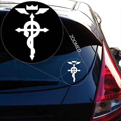 Yoonek Graphics Fullmetal Alchemist inspired Bleach Decal Sticker for Car Window, Laptop and More. # 475 (6