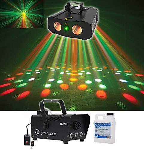 American DJ Galaxian Gem LED IR Dual RGBW Moonflower+Laser Club Light ADJ+Fogger