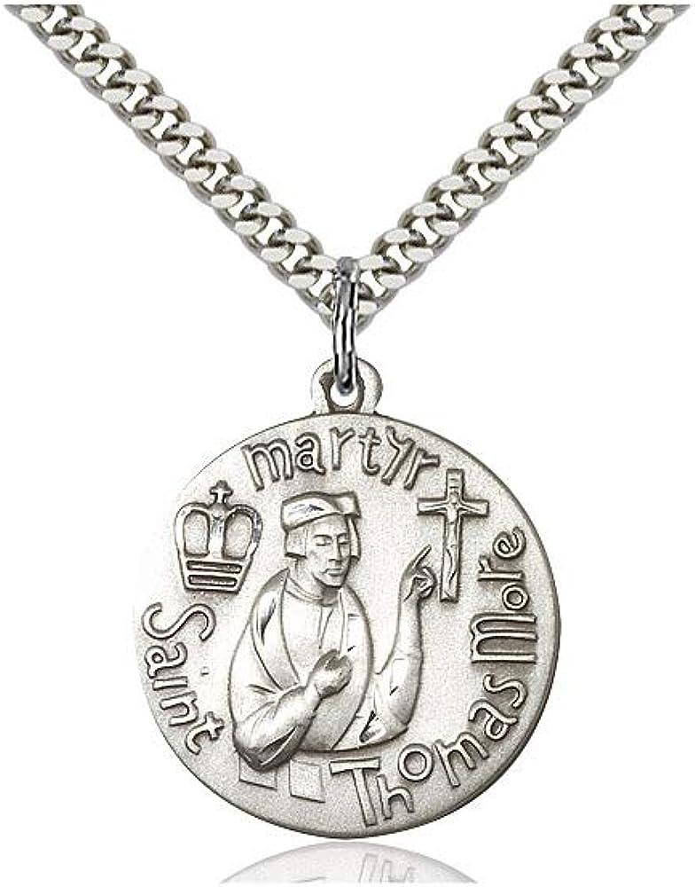 DiamondJewelryNY Sterling Silver St Anthony Pendant