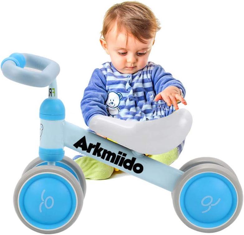Bicicleta Bebé Equilibrio, Baby Balance Bicicleta, Bicicleta Bebé sin Pedales Juguetes Bebes 1-3 años (Azul)