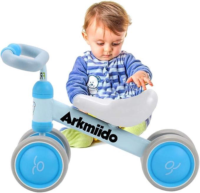 Adjustable Steering Wheel And Seat Height Push Balance Bike Toy For Birthday Gift -Pink Peradix Balance Bike Toys Boys Girls 4 Wheels Bicycle