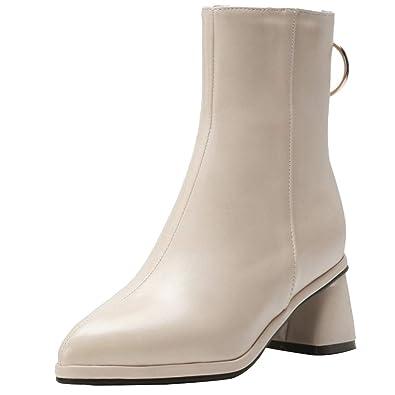 Heel RAZAMAZA Damens Block Heel  Ankle Stiefel Zipper   Stiefel b34a71