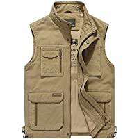 Gihuo Men's Winter Outdoor Fishing Safari Travel Vest...