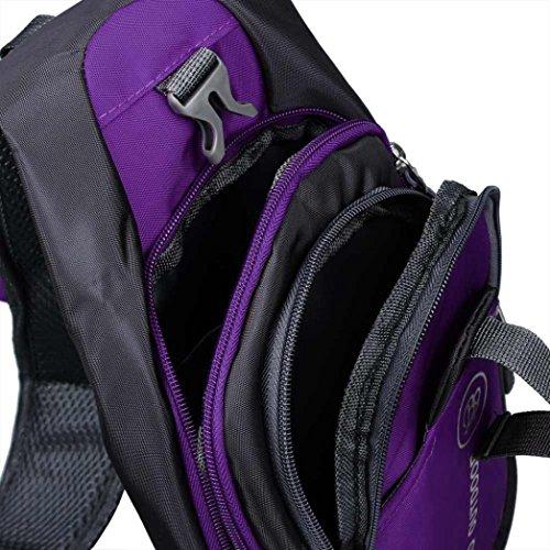 Bolso Kukul Bolso de hombro para hombre Mochila (Negro) Púrpura