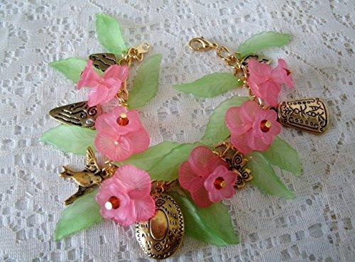 t, handmade jewelry, Victorian, Edwardian, neo Victorian, rockabilly, pin up, art nouveau, flower, steampunk (Nouveau Locket)