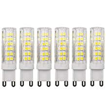 Dayker G9 LED Bulbs, 7W (60W G9 Halogen Bulb Equivalent) Light Bulb, Not-Dimmable, Warm White 3000K, for Crystal Chandelier Sconce Vanity Light (6-Pack)