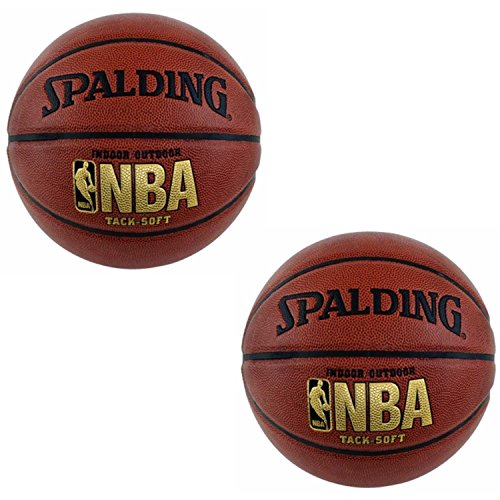 Spalding NBA Tack Soft Basketball (29.5'') 2 pack by Spalding