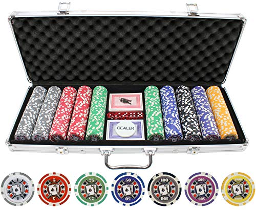500 Piece Big Slick 11.5g Poker Chip Set ()