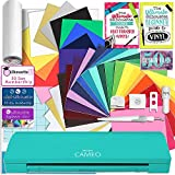 Silhouette Teal Cameo 3 Creative Bundle with Bluetooth, 24 Oracal 651 Sheets and 12 Siser Easyweed Heat Transfer Sheets
