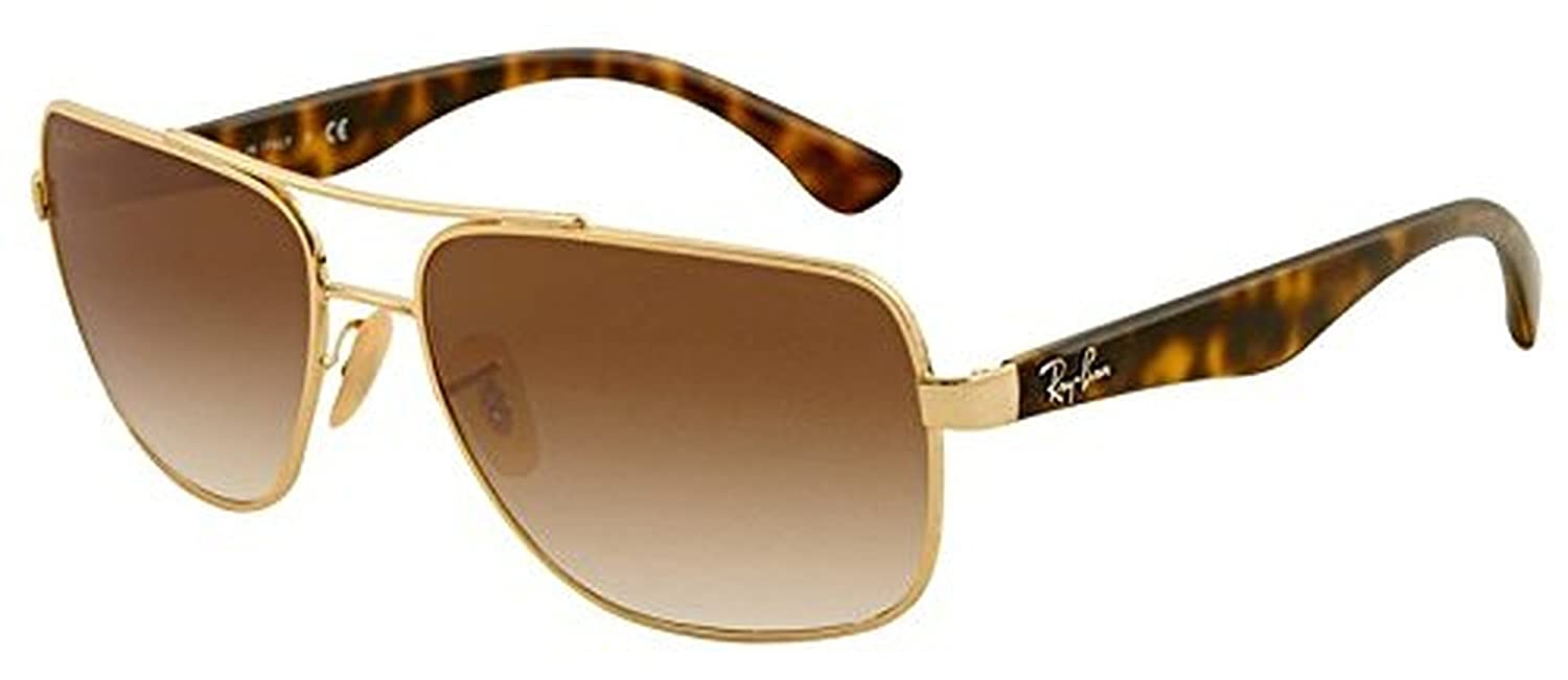 eea2223aea Amazon.com  Ray-Ban RB 3483 Sunglasses Arista   Crystal Brown Gradient 60mm    HDO Cleaning Carekit Bundle  Clothing