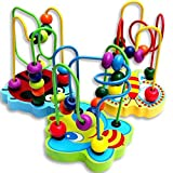 Ikevan Hot Selling Colorful Wooden Mini Around Beads Educational Game Toy Gift for Children Kids Baby 0-3 Years Old Kids