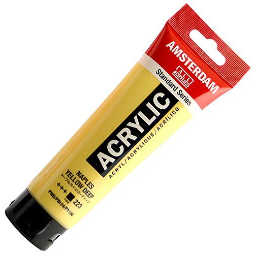 AMSTERDAM ACRYLIC 120ML NAPLES YELLOW DEEP SINGLE TUBE by Amsterdam