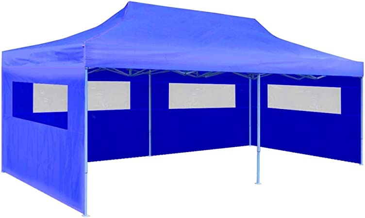 vidaXL Tendone per Feste in PE 3x6 m Antracite Tenda da Giardino Party Gazebo