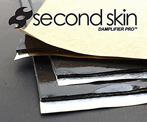 Made in The USA 13.67 Sq Ft, 8 Sheets Butyl Rubber Auto Sound Deadener Mat 2mm Second Skin Damplifier Pro Premium Car Sound Deadening Material