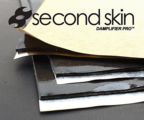 Second Skin Damplifier Pro MADE IN THE USA - 20 sq ft Build Pack + Wooden Hand Roller - 24 (12'' x 10'') Butyl Rubber Vibration Sheets by Second Skin Audio (Image #4)