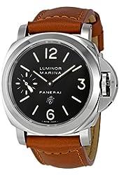 Panerai Luminor Marina Black Dial Mechanical Mens Watch PAM00005