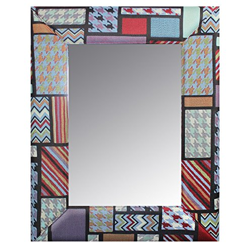 Essential Décor Entrada Collection Patchwork Fabric Mirror