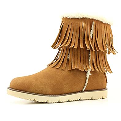 Amazon.com | DailyShoes Women's Comfort 2-Layer Round Toe