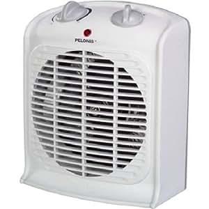 Pelonis Portable Fan Heater White