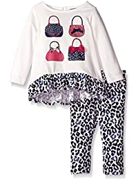 Baby-Girls Purse Tunic and Animal Print Legging Set