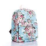 Gazigo Women Girl Vintage Cute Flower Floral Bag Schoolbag Bookbag Backpack