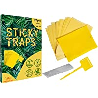 Moby Carts Yellow Sticky Traps Dual Sided Pack of 20, Traps for Fruit Fly, White-flies, Gnats, Aphids, Flying Plants…