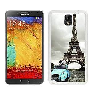 Amusing Eiffel Tower Paris Samsung Galaxy Note 3 Case White Cover.