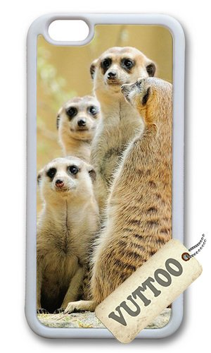 4d3253af3d1 iPhone 6 caso, VUTTOO elegante de suricata Family3 suave de TPU para Apple  Iphone 6 (4,7 pulgadas) - blanco: Amazon.es: Electrónica