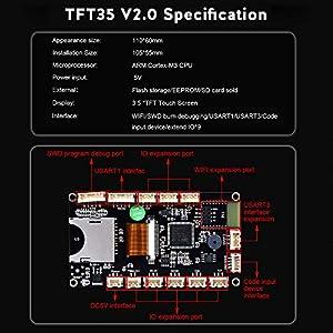 BIGTREETECH Direct SKR V1.4 Turbo Control Board + 5pcsTMC2208 V3.0 UART Mode Driver + TFT35 V2.0 Touch Screen for DIY 3D Printer Parter