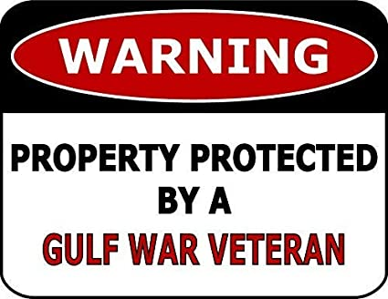 Amazon com: BGOJM Warning Property Protected by A Gulf War