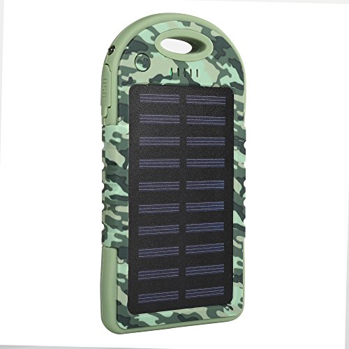 iBoost Solar Smartphone Power Pack Battery Charger, 2 USB Ports, Use with iPhone, Android, and Windows Phones, GoPro Camera, GPS Device (Camo) by iBoost