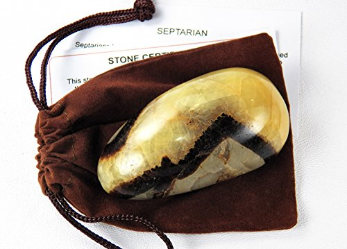 Gemstone Wand (Fundamental Rockhound Products: Septarian MASSAGE WAND Teardrop style natural gemstone crystal, grounding stone with carrying)