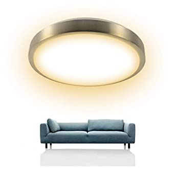 Moderne Deckenleuchte Wohnzimmer 16W Warmweiß Φ344*90mm Deckenleuchten für  Esszimmer, Küche, Badezimmer Deckenlampe