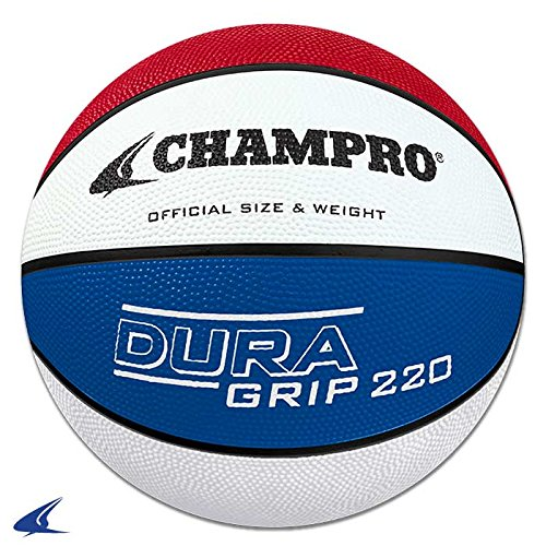 Used, Champro Super Grip Rubber Basketball Men's White/Blue/Red for sale  Delivered anywhere in USA