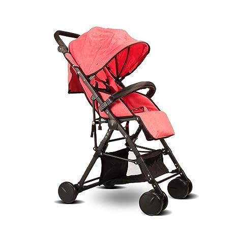 Cochecito, Bebé Paseante Viajar Sistema Con Moisés Uno Mano Doblez 6 Rueda (Color :