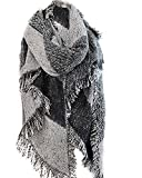 Vincenza ® Womens Large Oversized Pashmina Wrap Poncho Thick Style Scarf Patchwork Cape Shawl