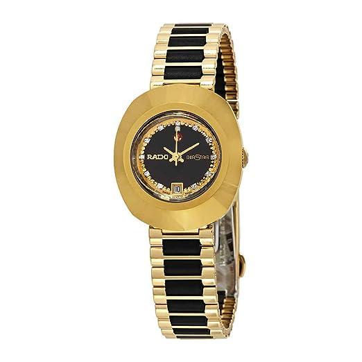 Rado Original Negro Simili Piedra Dial Reloj para Mujer R12416514: Amazon.es: Relojes