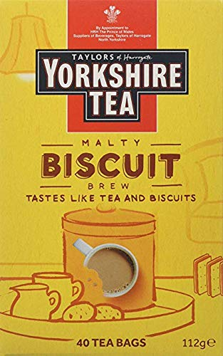 - Yorkshire Tea Biscuit Brew 40 Tea Bags 100G
