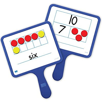 EAI Education Magnetic Ten Frame & Part-Part-Whole Dry-Erase Paddles: Set of 5: Toys & Games