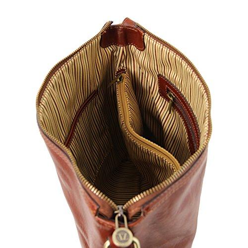 81414804 - TUSCANY LEATHER: ALICE - Sac cabas en cuir pour femme, Marron foncé