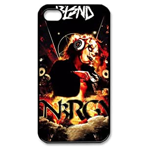 Hot Design Rookie DJ BL3ND Background Case Cover for iPhone 4/4S - Personalized Hard Cell Phone Back Protective Case Shell-Perfect as gift