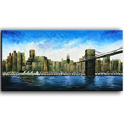 baccow 2448'' Modern Abstract Painting Wall Decor Landscape Paintings Oil Hand Painting 3D Wall Art On Canvas Abstract Artwork Art Wood Inside Framed Hanging Wall Decoration by baccow (Image #9)
