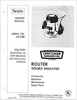 craftsman router manual anyone