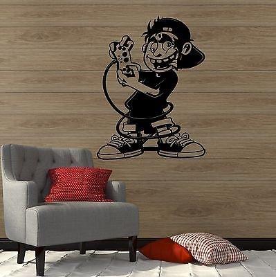 Gamer Wall Vinyl Sticker Decal Boy Room Video Games Kids Art Play Room VS085