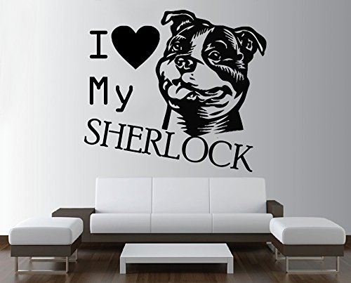 Amazon Com Wall Decal Dogs Personalised Animals Anime Best Fiend