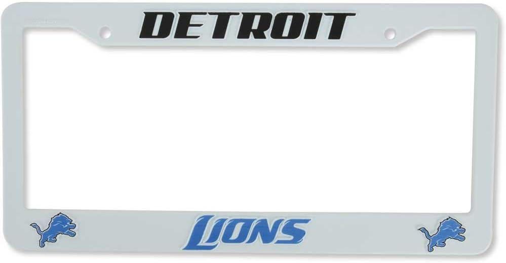 Rico Detroit Lions White Plastic License Plate Frame