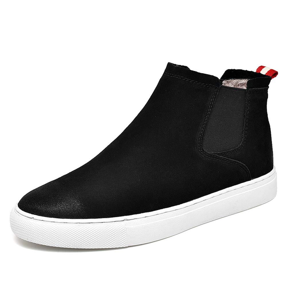 LEFT&RIGHT Herren Freizeitschuhe Turnschuhe Müßiggänger Sanding Schuhe Rutschfeste Lederschuhe Hohe Schuhe Große Größe,40EU=24.7Cm