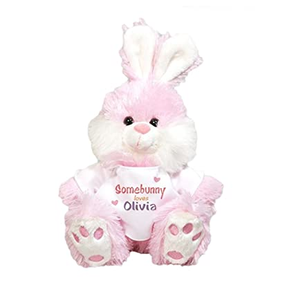 Amazon Com Giftsforyounow Personalized Plush Pink Easter Bunny 12