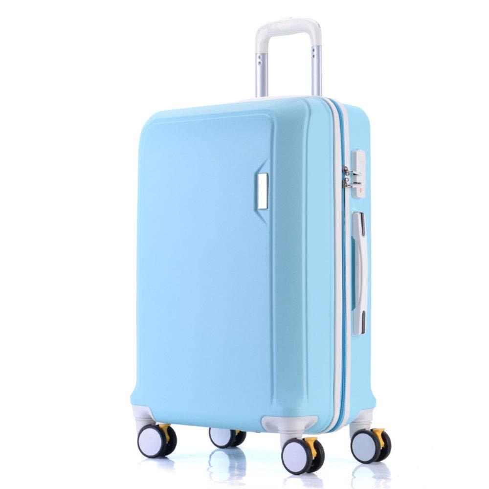 トロリーボックスマザーボックスボックスコンビネーション荷物ボックスユニバーサルホイールスーツケースロックボックス (Color : 青, Size : 24 inches)   B07R5QR1NJ