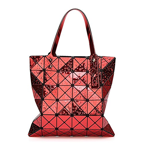 Red à Main 6 Sac Main Sac Bandoulière Couture à Main 6 Géométrique à Pliable Sac Sac à Diamant WLFHM wxpvOU1q